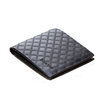 Men Black grid wallet short style male business Polyester money card bag