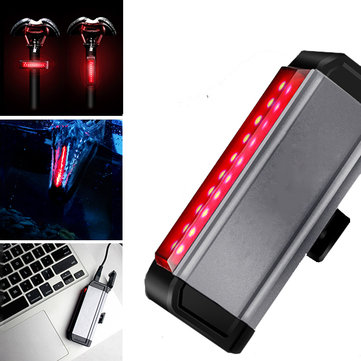 WILD MAN Bicycle Taillight 300h Long Life 4 Modes Waterproof Wide Angle Night Light USB Charging