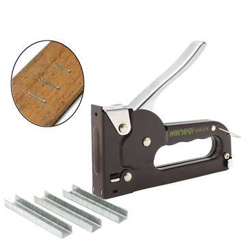 Heavy Duty Staple Fastener Tool Tacker Upholstery Plaster Stapler + Staples Kit