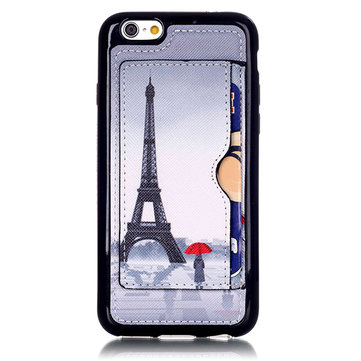 Tower Girl Pattern Back Holder Case For iPhone 6 6s
