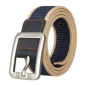 Men's Business Alloy Buckle Woven Stretch Belt