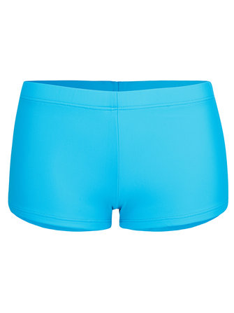 Woman Seamless Mid Waist Swimming Trunks Pure Color Sports S