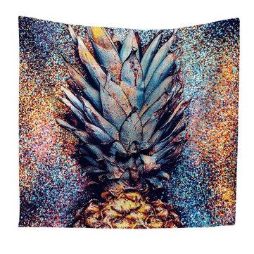 Mandala Tapestry Watercolor Pineapple Print Indian Wall Hanging Home Decor