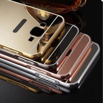 Mirror Aluminum Metal Frame Plating Acrylic Back Cover for Samsung Galaxy ON7