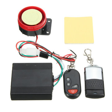 12V Motorcycle Anti-theft Security Vehicle Car Alarm System Remote Control