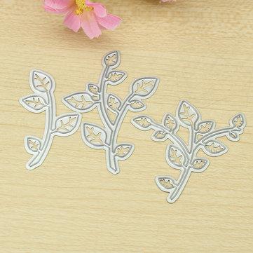 葉の木ブランチパターンDIYカード作成ツール切削テンプレート切削