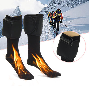 Winter Outdoor Electric Heater Travel Battery Heated Socks Cotton Socks Comfortable Warm Shoes Foot