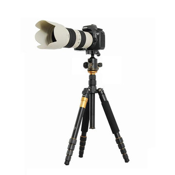 QZSD Q666 15KG Tripod With Q-02 360 Degree Swivel Fluid Head For DSLR Camera