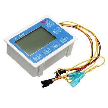 G3/4Inch Flow Water Sensor Meter Digital LCD Display Quantitative Control 1-60L/mi