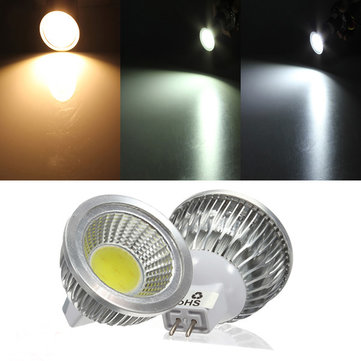 MR16 3W 300-330LM Dimmable COB LED Spot Lamp Light Bulbs DC/AC 12V