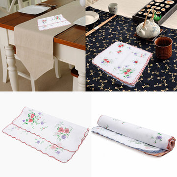 12pcs Ladies Women Floral Pattern Handkerchief Cotton Fiber Square Tower