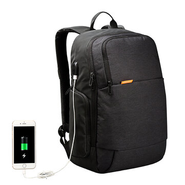 KINGSONS Men USB External Charging Anti Theft Laptop Backpack for 15.6 Inch Laptop