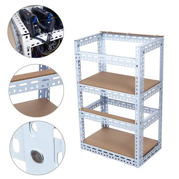 2-Layer Steel Crypto Coin Bitcoin Mining Rig Frame Case Set For 8 GPU