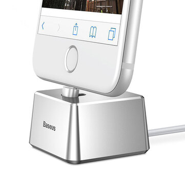 Baseus Quadrate Desktop Bracket Station USB Charger Holder Cradle With 1M Cable for iPhone 8 X