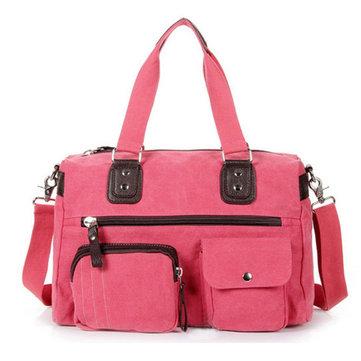 Brenice Women Crossbody Bag Canvas Large Capacity Handbag