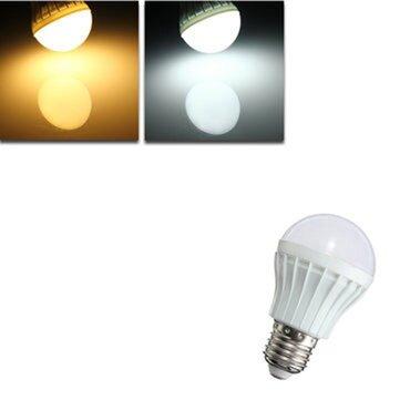 E27 5W 8 SMD 5630 Warm White/White Globe Ball Bulbs Plastic Lamp Lights 220-240V