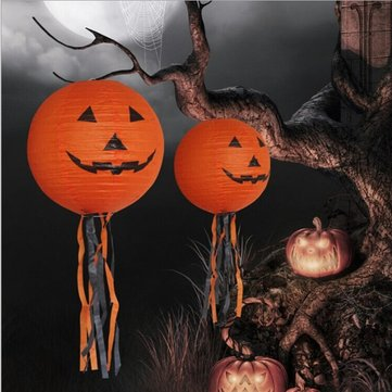 Vintage DIY Pumpkin Ghost Paper Lantern Halloween Festival Party Decor