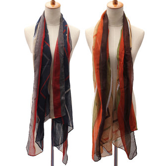 Women Ladies Long Soft Cotton Voile Print Scarves Shawl Wrap Scarf