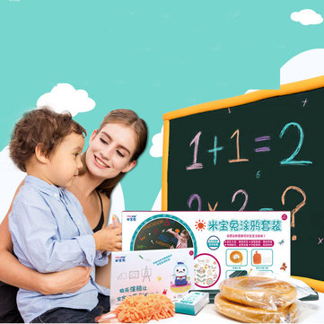 Mibokids Wall Stricker Wallpaper Blackboard Children Drawing Graffiti Paper Foldable Board Toys