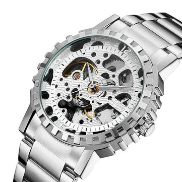 OUYAWEI YW1401_B Stainless Steel Self-Wind Mechanical Watch