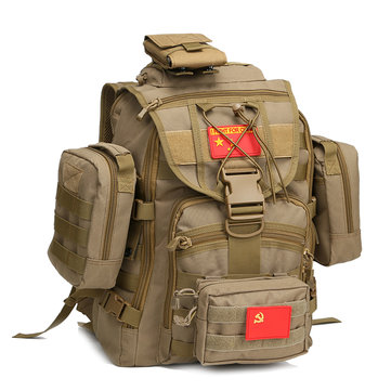 FAITH PRO Men Multi-function Tactical Sword Fish Bag 40L Waterproof Oxford High Capacity Backpack