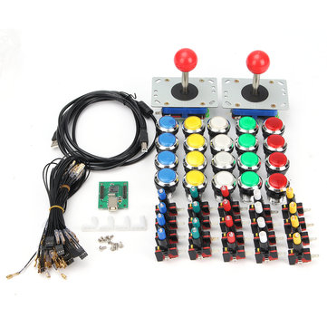 LED Arcade USB Joystick Push Button With Micro Switch USB Encoder DIY Kit