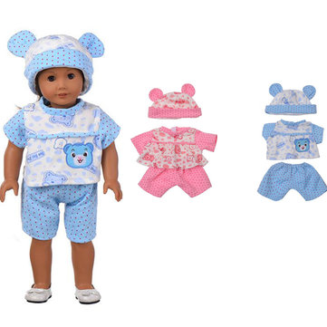 Sleeping Baby Bear Shape Doll Clothes Set For 18'' American Girl Without Reborn Baby