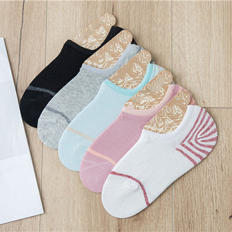 Ankle Socks Breathable Deodorization High Low Cut Cotton Invisible Slipper Socks for Women