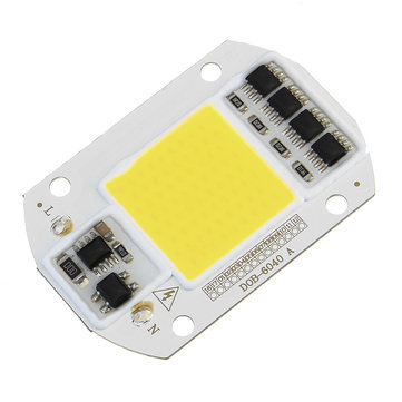 High Power 50W White / Warm White LED COB Light Chip for DIY Flood Spotlight AC220V