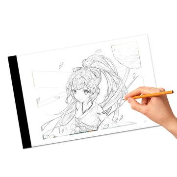 Mrosaa A4 LED Artist Thin Art استنسل لوحة الرسم ضوء Box Pad Table