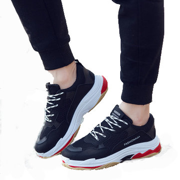 KY-K Men Korean Version Fashion Perspiration Softness Leisure Vintage Dad Shoes Sneakers