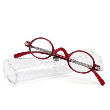 Unisex Antifatigue Reader Reading Glasses With Case Multicolor Computer Presbyopic Glasses