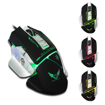 X400 7 Keys 3200DPI Wired LED Variable Light Gaming Mouse