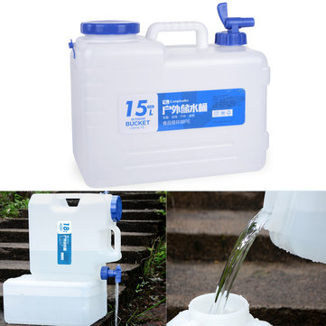 15L Outdoor Portable PE Water Storage Bucket Car Road Trip Self-driving Tour Camping Equipment