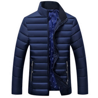 Men Winter Thick Warm Quilted Padded Insulated Jacket