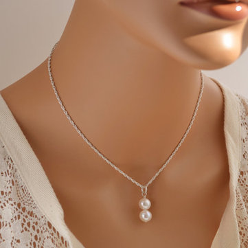 Fashion Pearls Pendant Necklace Charm Chain Tassel Necklace Jewelry For Women