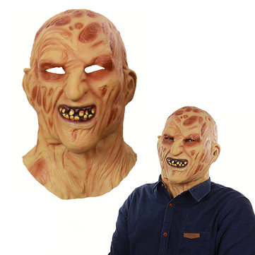 Halloween Prop Latex Horror Burn Monster Full Face Mask Scary Costume HeadMask