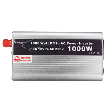 1000W Modified Sine Wave Power Inverter DC 12V to AC 220V USB Charger Adapter