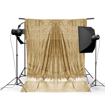 4x6FT Gold Shimmer Sequin Photography Backdrop Studio Prop Background