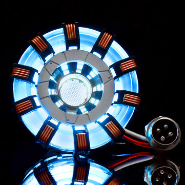 MK2 Acrylic Tony ARC Reactor Model DIY Kit USB Chest Lamp Movie Props Illuminant LED Flash Light Set Gift