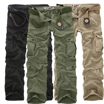 Multi Pockets Cotton Sport Cargo Pants