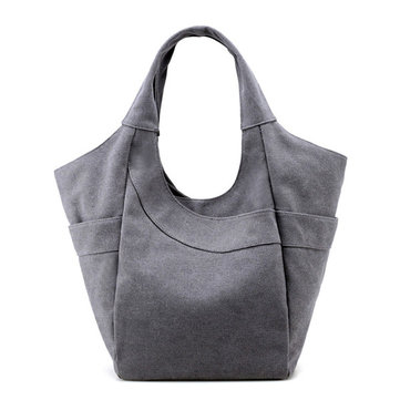 Women Canvas Tote Handbags Casual Shoulder Bags Capacity Shopping Bags