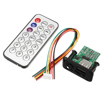 DC 5V 12V 3W+3W Dual Channel Mini MP3 Decoder Board Decoding Module Support MP3 WAV U Disk TF Card USB Power Memory Amplifier Speaker Audio Board With Remote Control