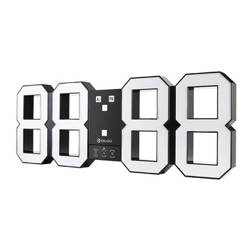 Digoo DC-K3 Plus 18' Wireless Digital LED Alarm Clock Snooze Night Mode Remote Control Wall Clock