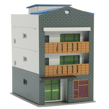 N Scale Gauge 1/144 White 4 Story Commercial Trade Model Building GUNDAM Model Scene