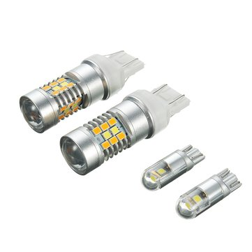 Switchback 28-SMD LED Kit Turn Signal & Parking Bulbs For Ford Mustang 2015-up