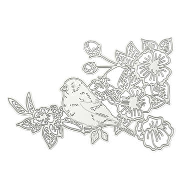 10.4 x 14cm Robin Pattern Scrapbook DIY Album Card Paper Craft Maker Metal Die Cutting Stencils