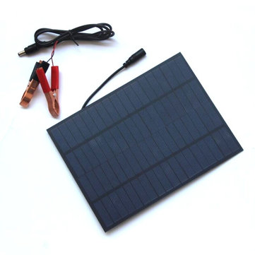 5W 18V Portable Polycrystalline Silicon Solar Panel With DC5521 Battery Clip