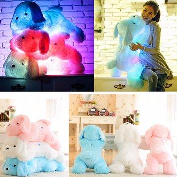 LED Dog Doll Stuff Toy Nightlight Plush Toy Glow Pillow Soft Light Up Inductive Soft Doll