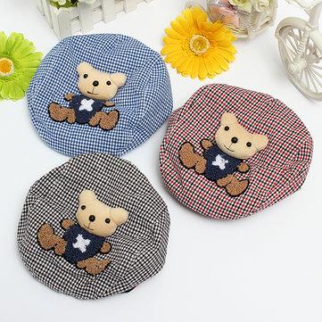 Children Baby Infant Cap Kids Cotton Bear Beret Warm Hunting Sun Hat